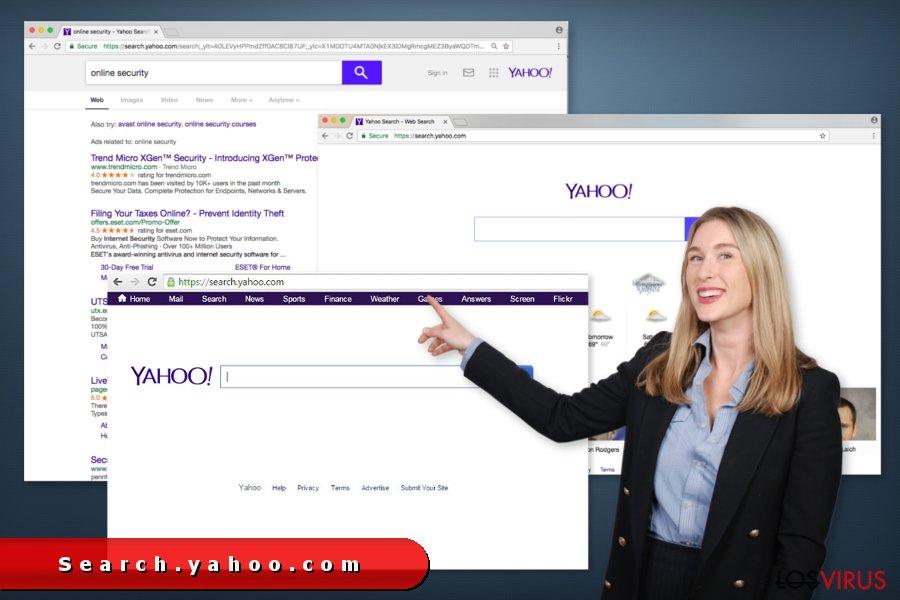 Las redirecciones de Search.yahoo.com foto