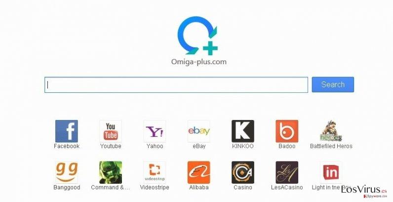 El virus Searches.omiga-plus.com foto