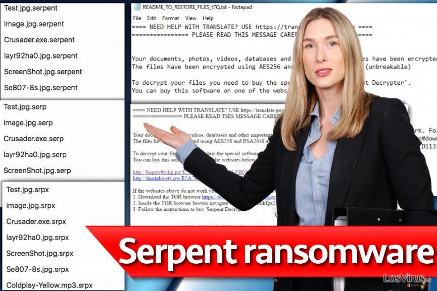 El virus ransomware Serpent