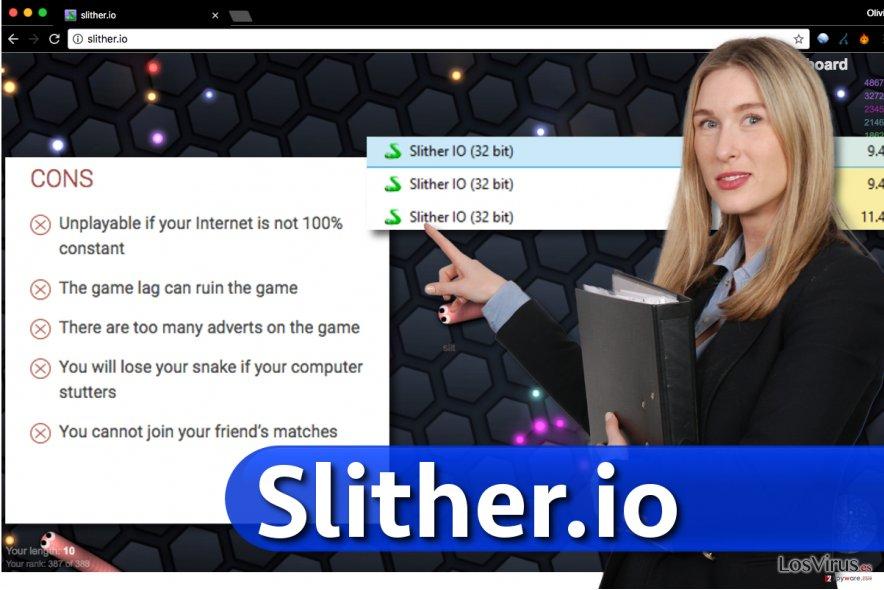 Imagen de la aplicación Slither.io