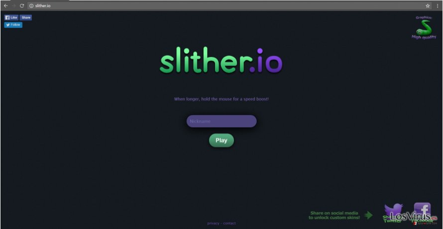 Slither.io virus