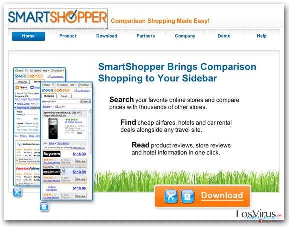 El virus 'Ads by SmartShopper' foto