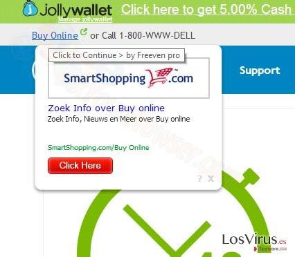 Los anuncios pop-up de SmartShopping.com foto