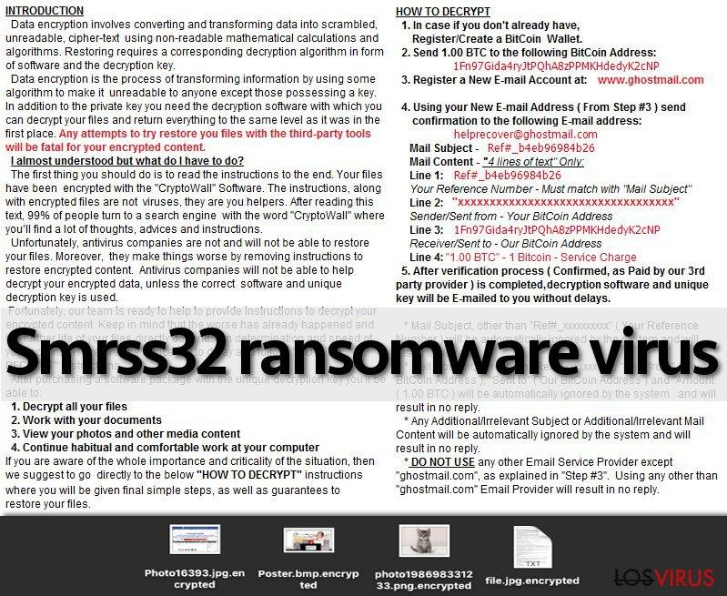 El virus ransomware Smrss32
