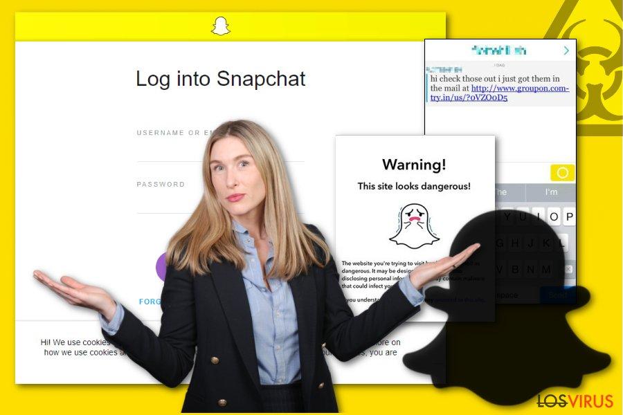 Imagen de un malware Snapchat