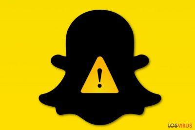 Imagen de un virus Snapchat