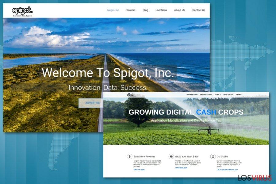 Páginas web oficiales de Spigot