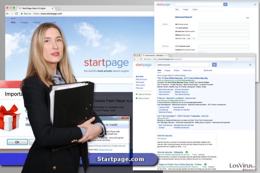 El virus Startpage.com foto