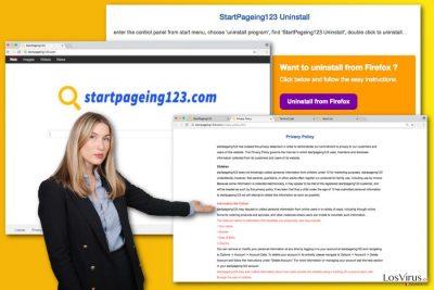 Ilustración del virus StartPageing123.com