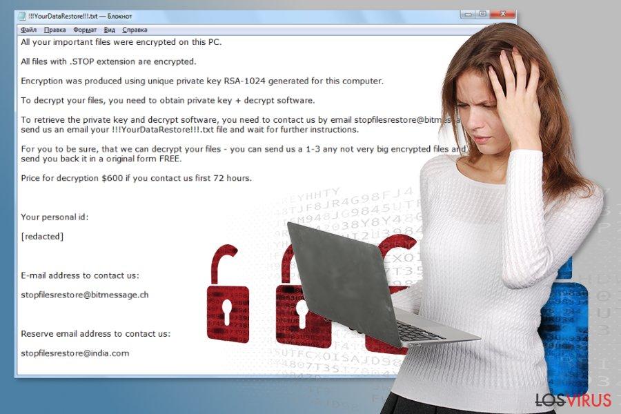 Virus ransomware STOP