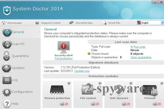 System Doctor 2014 foto