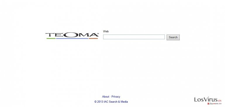 Teoma Web Search foto