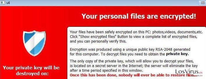El virus TeslaCrypt foto