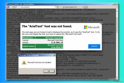"""Anuncios """"The ArialText font was not found"""""""