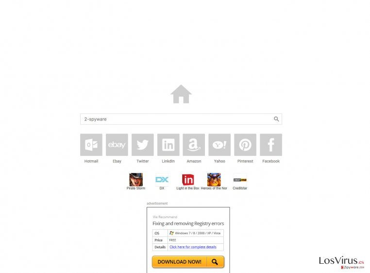 The main page of Esurf.biz browser hijacker