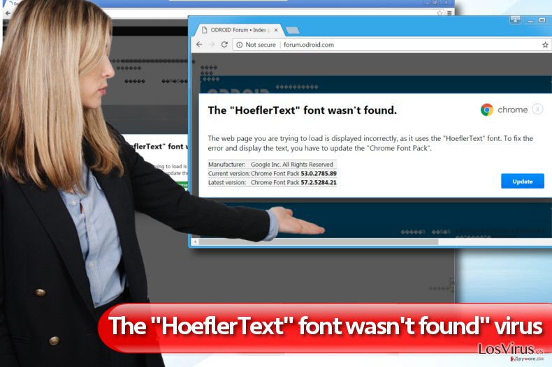 "Los anuncios ""The HoeflerText font wasn't found"" foto"