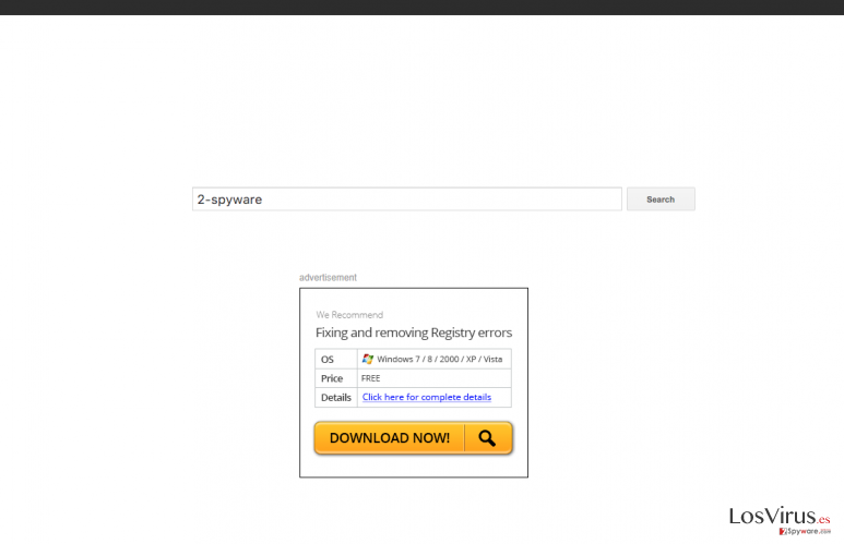 The picture showing webpageing.com browser hijacker and its ads