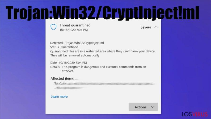 Trojan:Win32/CryptInject!ml