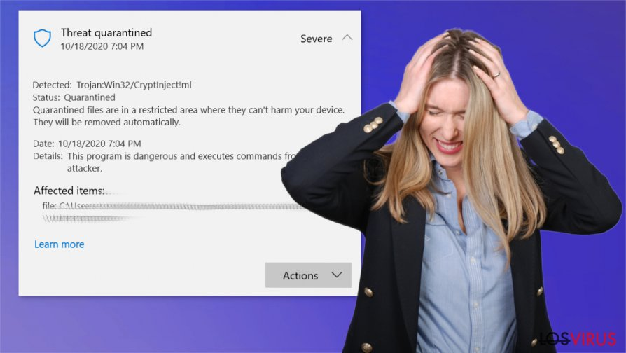 Virus Trojan:Win32/CryptInject!ml