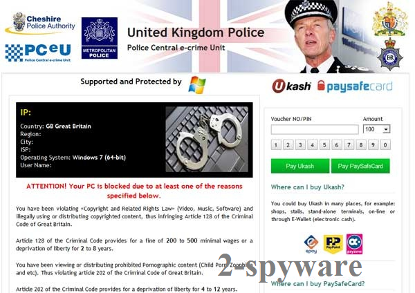 UK Police virus foto