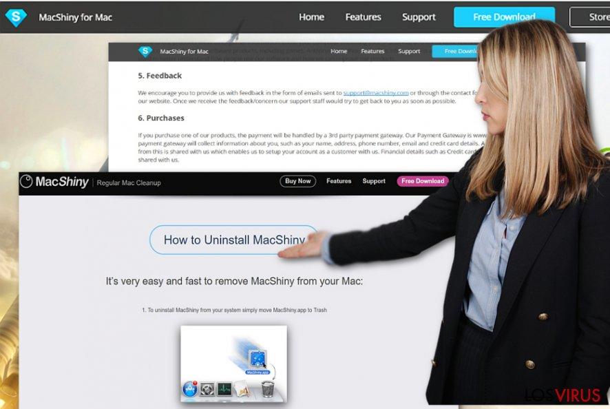 Las instrucciones de eliminación de MacShiny provistas en su sitio oficial