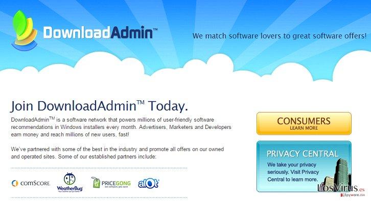 El adware UpdateAdmin foto