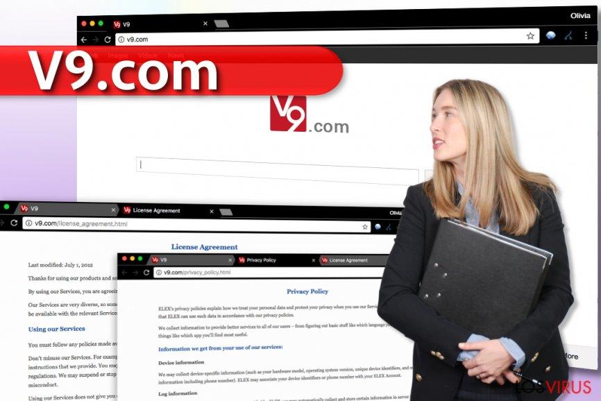 El virus v9.com foto