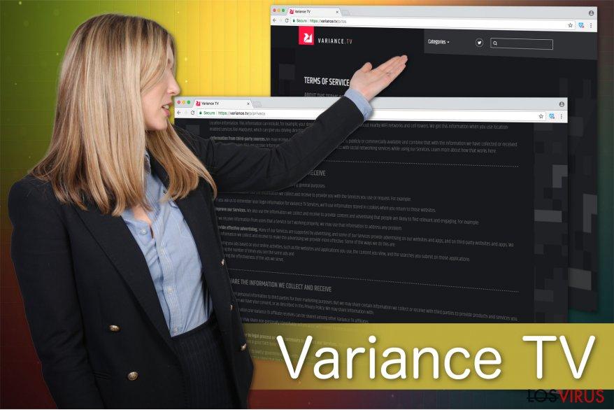 Ilustración del virus Variance TV