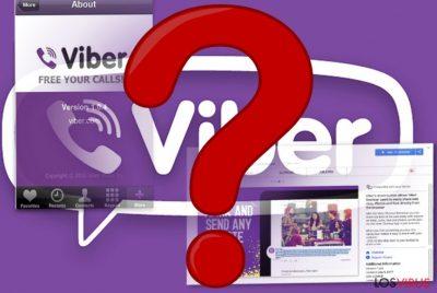 La imagen de la app móvil Viber y de su extensión de navegador
