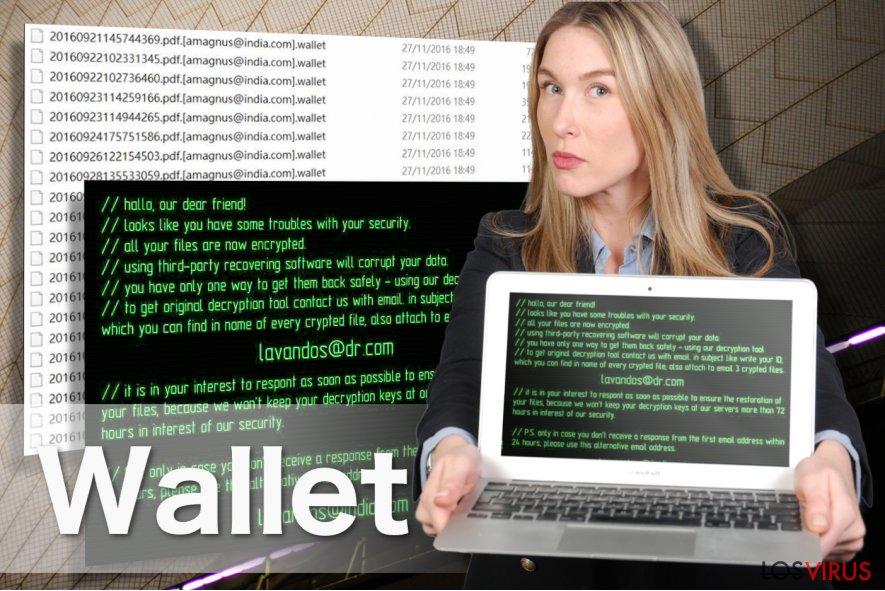 Imagen del ransomware Wallet