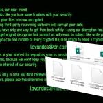 Virus ransomware Wallet foto