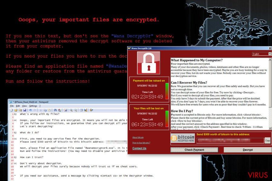 El virus ransomware Wana Decrypt0r foto