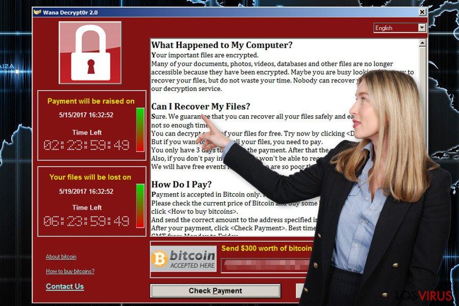 El virus ransomware Wana Decrypt0r