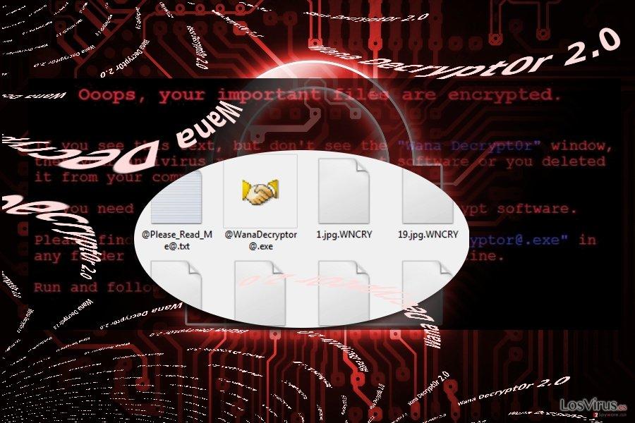 The image illustrating Wana Decrypt0r 2.0