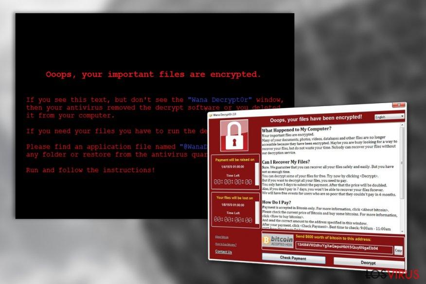 Virus WanaCrypt0r