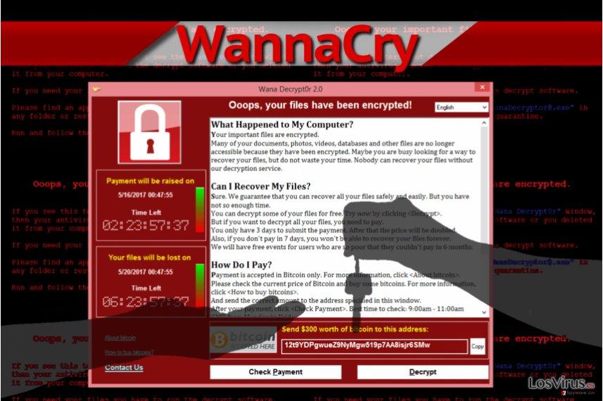 WannaCry ransomware virus