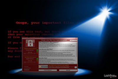 La imagen que muestra la aparición de WannaCry 3.0