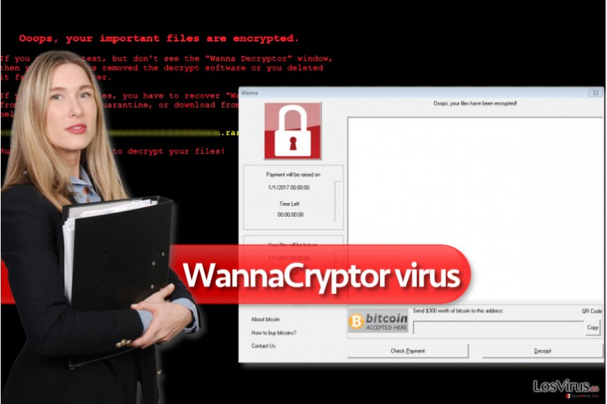 Virus ransomware WannaCryptor