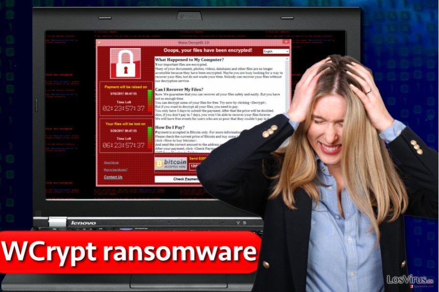 Virus ransomware WCrypt