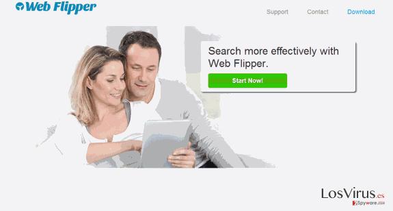 Los anuncios de Web Flipper foto