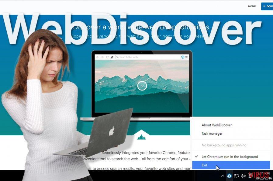 Imagen del navegador WebDiscover
