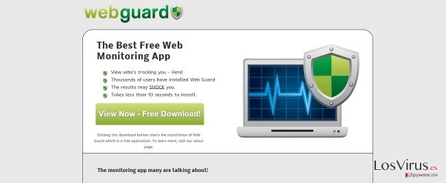 El virus Web Guard foto