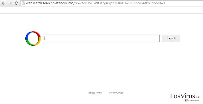 El virus Websearch.searchplazanow.info foto