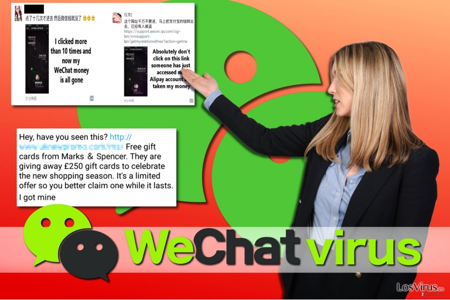 Ejemplos de virus WeChat