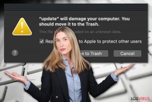Dañará tu ordenador. Deberías moverlo a la Papelera