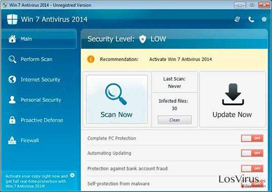 Win 7 Antivirus 2014 foto