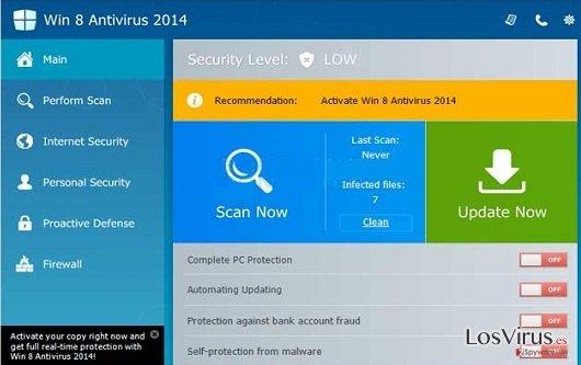 Win 8 Antivirus 2014 foto