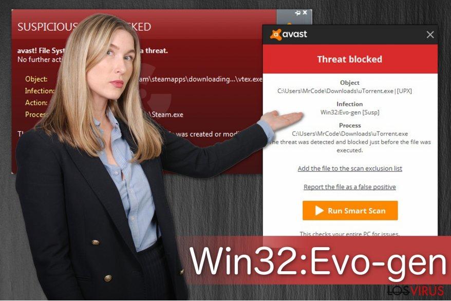Ilustración de la alerta Win32:Evo-gen [Susp]