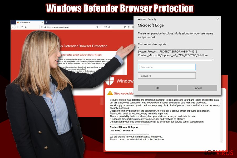 Estafa Windows Defender Browser Protection