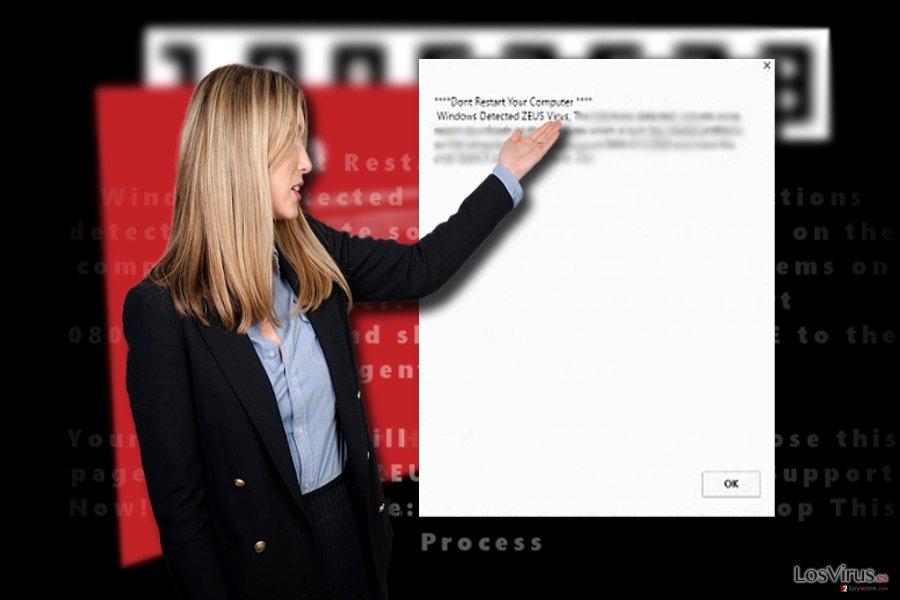 "Estafa de asistencia técnica ""Windows Detected ZEUS Virus"""